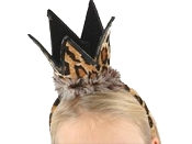 Brown Leopard Birthday Crown